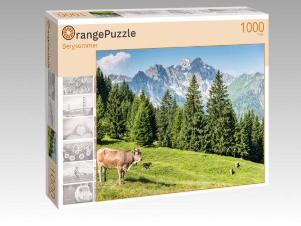 """Puzzle Motiv """"Bergsommer"""" - Puzzle-Schachtel zu 1000 Teile Puzzle"""