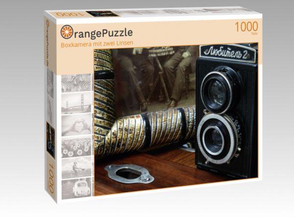 """Puzzle Motiv """"Boxkamera mit zwei Linsen"""" - Puzzle-Schachtel zu 1000 Teile Puzzle"""