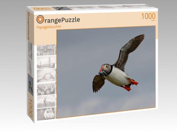"Puzzle Motiv ""Papageitaucher"" - Puzzle-Schachtel zu 1000 Teile Puzzle"