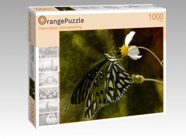 "Puzzle Motiv ""Dekorativer Schmetterling"" - Puzzle-Schachtel zu 1000 Teile Puzzle"