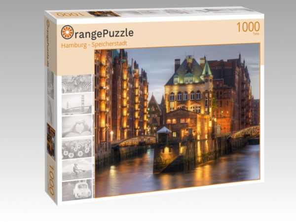 """Puzzle Motiv """"Hamburg - Speicherstadt"""" - Puzzle-Schachtel zu 1000 Teile Puzzle"""