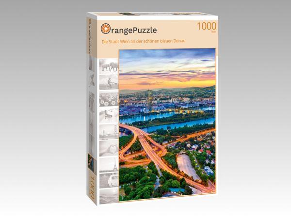 """Puzzle Motiv """"Die Stadt Wien an der schönen blauen Donau"""" - Puzzle-Schachtel zu 1000 Teile Puzzle"""