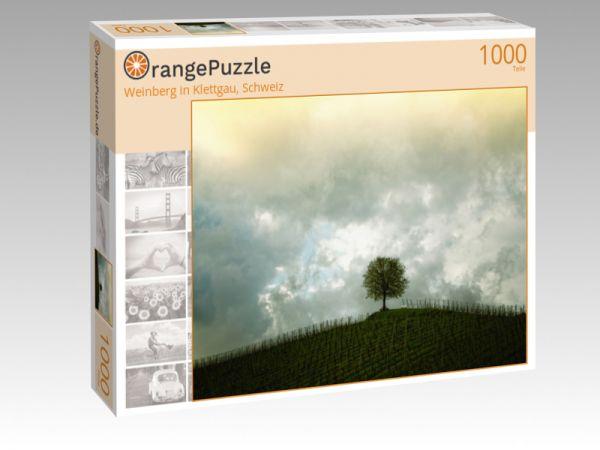 """Puzzle Motiv """"Weinberg in Klettgau, Schweiz"""" - Puzzle-Schachtel zu 1000 Teile Puzzle"""