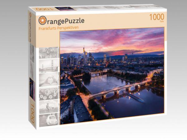 """Puzzle Motiv """"Frankfurts Perspektiven"""" - Puzzle-Schachtel zu 1000 Teile Puzzle"""
