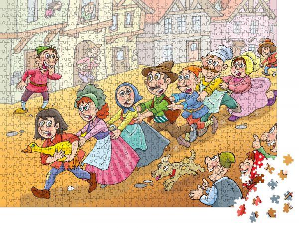 """Puzzle-Motiv """"Kindermärchen Goldgans"""" - Puzzle-Teile zu 1000 Teile Puzzle"""