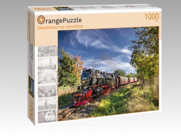 """Puzzle Motiv """"Selketalbahn bei Hasselfelde"""" - Puzzle-Schachtel zu 1000 Teile Puzzle"""