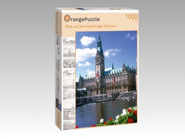 "Puzzle Motiv ""Blick auf das Hamburger Rathaus"" - Puzzle-Schachtel zu 1000 Teile Puzzle"