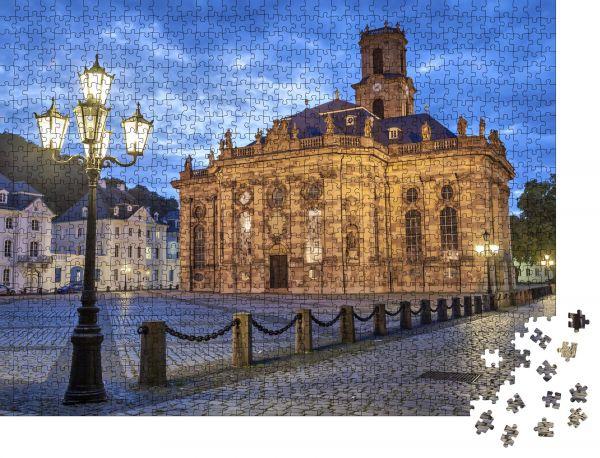"""Puzzle-Motiv """"Ludwigskirche - eine evangelische Barockkirche in Saarbrücken, Deutschland"""" - Puzzle-Schachtel zu 1000 Teile Puzzle"""