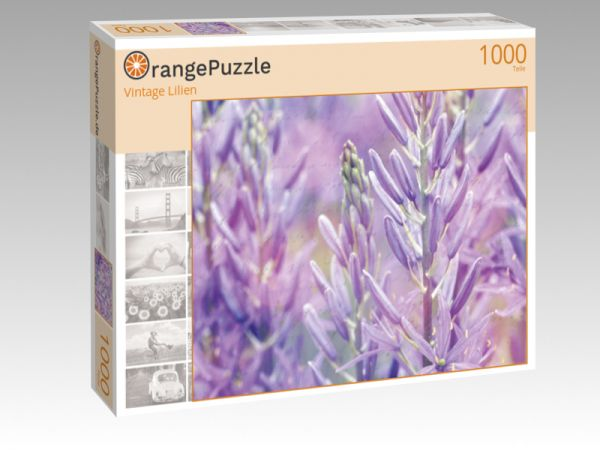 """Puzzle Motiv """"Vintage Lilien"""" - Puzzle-Schachtel zu 1000 Teile Puzzle"""
