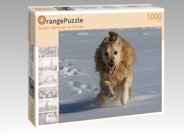 """Puzzle Motiv """"Golden Retriever im Schnee"""" - Puzzle-Schachtel zu 1000 Teile Puzzle"""