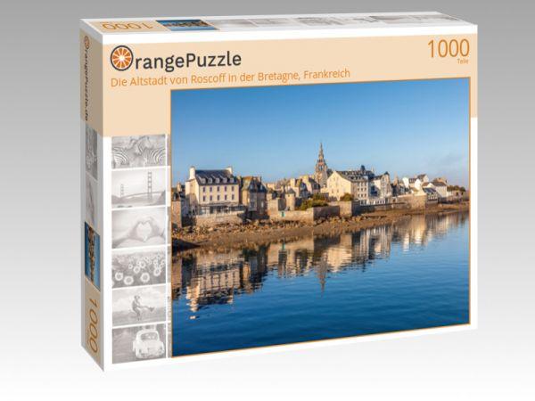 """Puzzle Motiv """"Die Altstadt von Roscoff in der Bretagne, Frankreich"""" - Puzzle-Schachtel zu 1000 Teile Puzzle"""