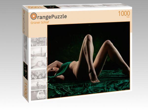 "Puzzle Motiv ""Grüner Schlaf"" - Puzzle-Schachtel zu 1000 Teile Puzzle"