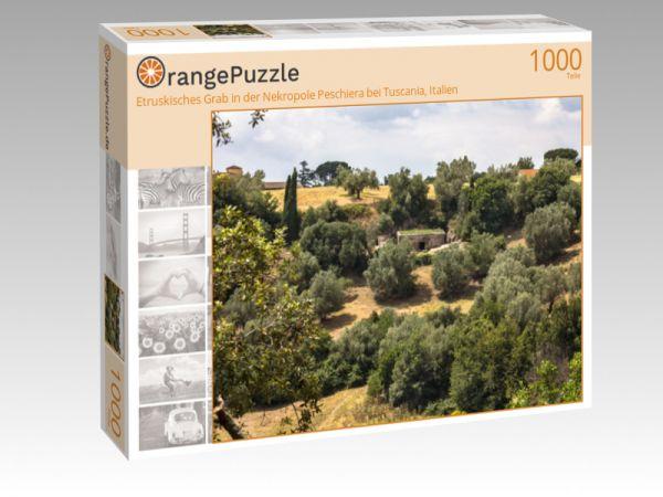 """Puzzle Motiv """"Etruskisches Grab in der Nekropole Peschiera bei Tuscania, Italien"""" - Puzzle-Schachtel zu 1000 Teile Puzzle"""