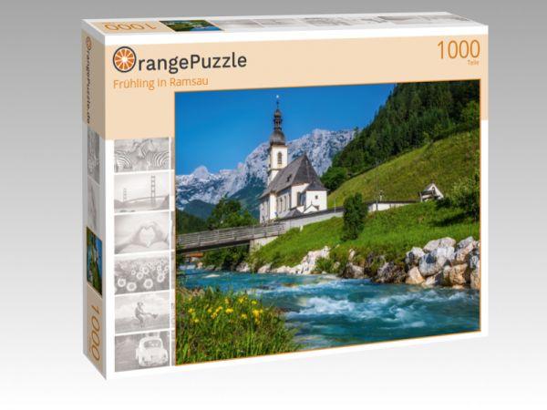 "Puzzle Motiv ""Frühling in Ramsau"" - Puzzle-Schachtel zu 1000 Teile Puzzle"