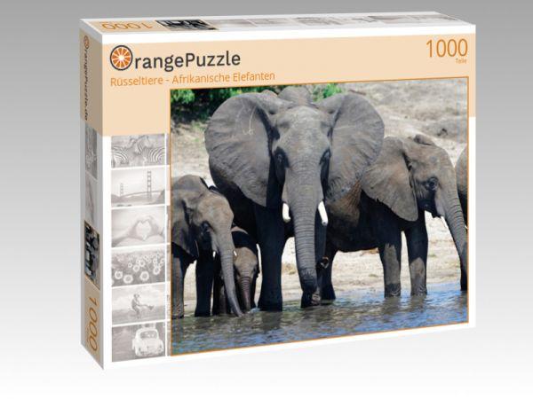 "Puzzle Motiv ""Rüsseltiere - Afrikanische Elefanten"" - Puzzle-Schachtel zu 1000 Teile Puzzle"