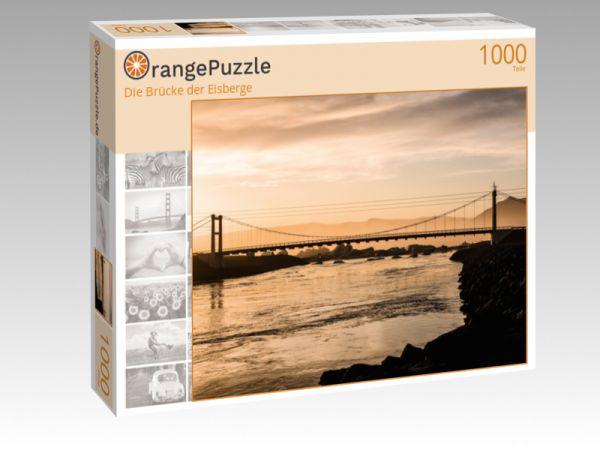 """Puzzle Motiv """"Die Brücke der Eisberge"""" - Puzzle-Schachtel zu 1000 Teile Puzzle"""