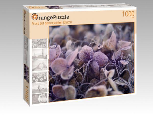"""Puzzle Motiv """"Frost auf getrockneten Blüten"""" - Puzzle-Schachtel zu 1000 Teile Puzzle"""
