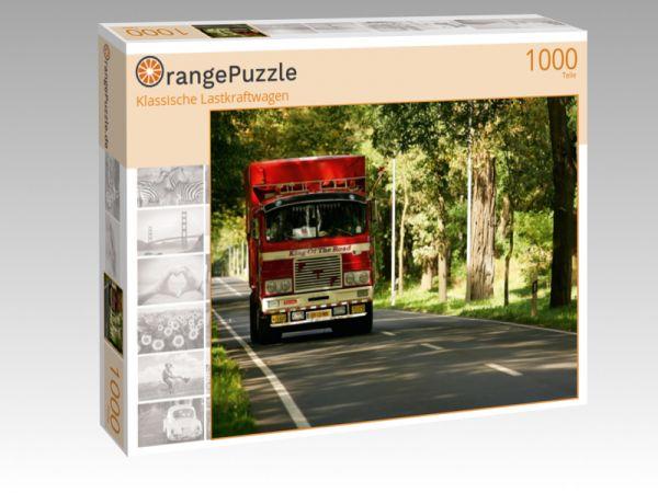 """Puzzle Motiv """"Klassische Lastkraftwagen"""" - Puzzle-Schachtel zu 1000 Teile Puzzle"""