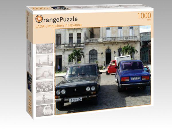 """Puzzle Motiv """"LADA-Limousinen in Havanna"""" - Puzzle-Schachtel zu 1000 Teile Puzzle"""