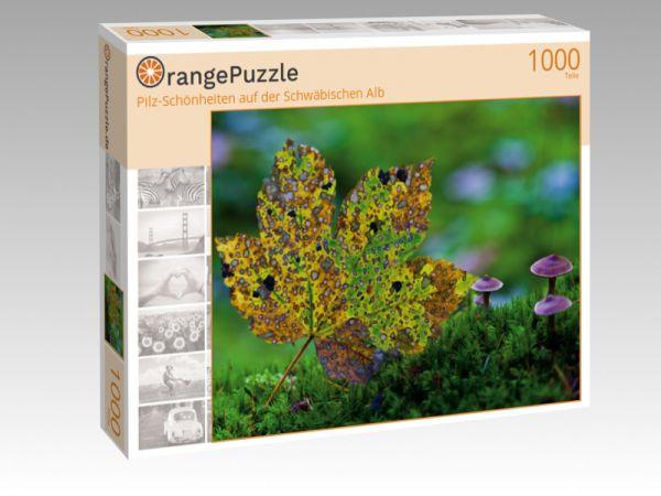 """Puzzle Motiv """"Pilz-Schönheiten auf der Schwäbischen Alb"""" - Puzzle-Schachtel zu 1000 Teile Puzzle"""