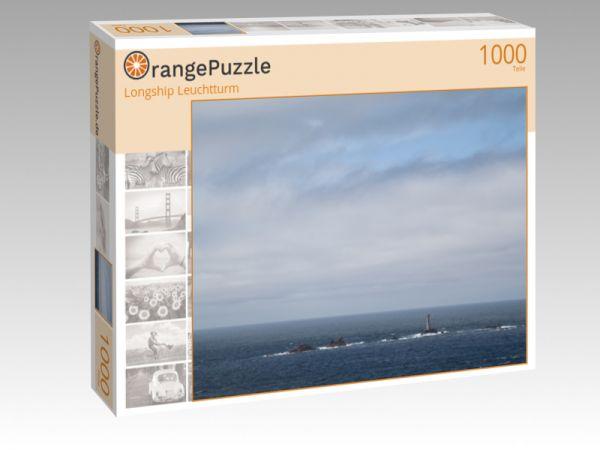 """Puzzle Motiv """"Longship Leuchtturm"""" - Puzzle-Schachtel zu 1000 Teile Puzzle"""