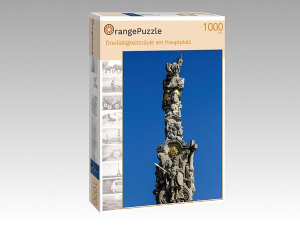 """Puzzle Motiv """"Dreifaltigkeitssäule am Hauptplatz"""" - Puzzle-Schachtel zu 1000 Teile Puzzle"""