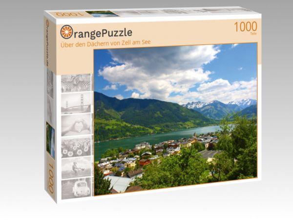 """Puzzle Motiv """"Über den Dächern von Zell am See"""" - Puzzle-Schachtel zu 1000 Teile Puzzle"""