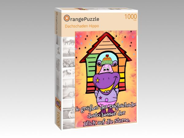 """Puzzle Motiv """"Dachschaden Hippo"""" - Puzzle-Schachtel zu 1000 Teile Puzzle"""