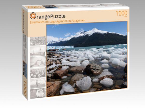 """Puzzle Motiv """"Eisschollen im Lago Agentino in Patagonien"""" - Puzzle-Schachtel zu 1000 Teile Puzzle"""