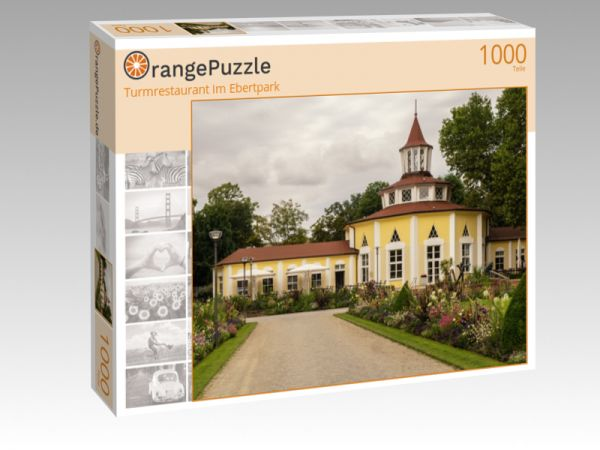 """Puzzle Motiv """"Turmrestaurant im Ebertpark"""" - Puzzle-Schachtel zu 1000 Teile Puzzle"""