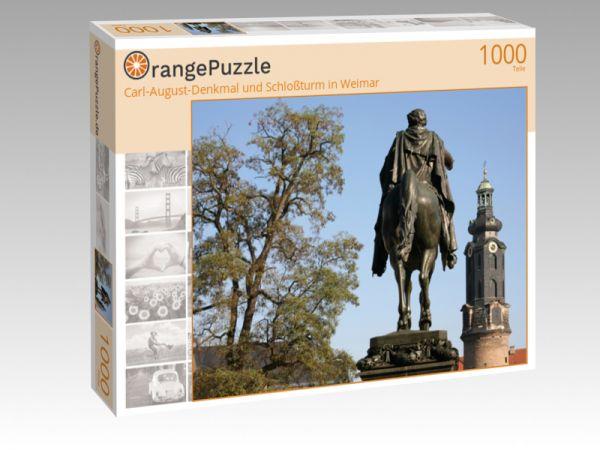 """Puzzle Motiv """"Carl-August-Denkmal und Schloßturm in Weimar"""" - Puzzle-Schachtel zu 1000 Teile Puzzle"""