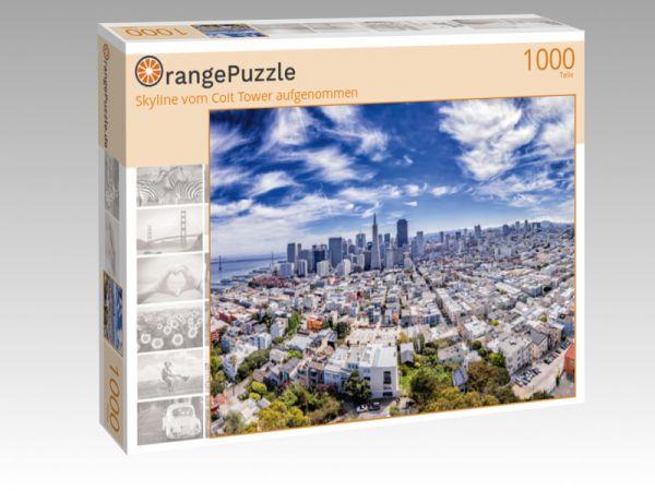 """Puzzle Motiv """"Skyline vom Coit Tower aufgenommen"""" - Puzzle-Schachtel zu 1000 Teile Puzzle"""