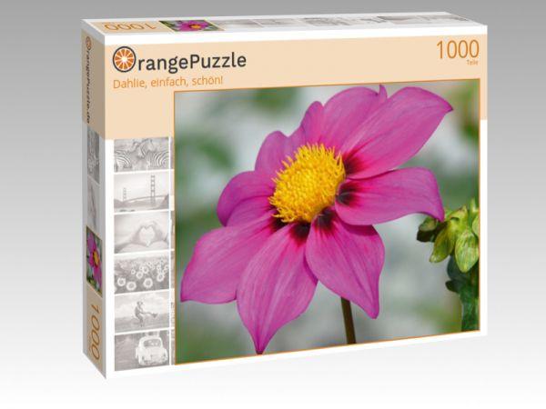 """Puzzle Motiv """"Dahlie, einfach, schön!"""" - Puzzle-Schachtel zu 1000 Teile Puzzle"""