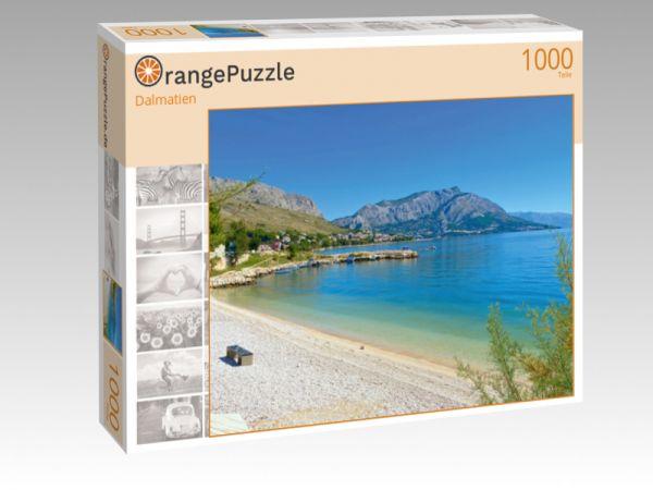 """Puzzle Motiv """"Dalmatien"""" - Puzzle-Schachtel zu 1000 Teile Puzzle"""
