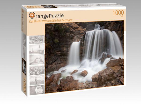 """Puzzle Motiv """"Kuhflucht Wasserfälle bei Farchant"""" - Puzzle-Schachtel zu 1000 Teile Puzzle"""
