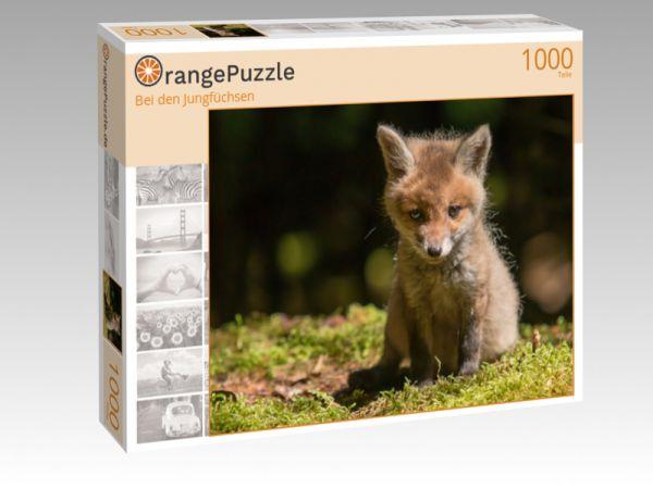 """Puzzle Motiv """"Bei den Jungfüchsen"""" - Puzzle-Schachtel zu 1000 Teile Puzzle"""