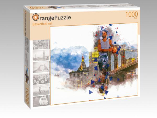 """Puzzle Motiv """"Basketball Art"""" - Puzzle-Schachtel zu 1000 Teile Puzzle"""