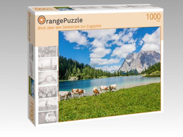 """Puzzle Motiv """"Blick über den Seebensee zur Zugspitze"""" - Puzzle-Schachtel zu 1000 Teile Puzzle"""