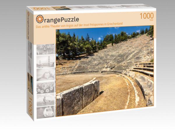 """Puzzle Motiv """"Das antike Theater von Argos auf der Insel Peloponnes in Griechenland"""" - Puzzle-Schachtel zu 1000 Teile Puzzle"""