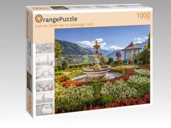 """Puzzle Motiv """"Park am Zeller See im Salzburger Land"""" - Puzzle-Schachtel zu 1000 Teile Puzzle"""