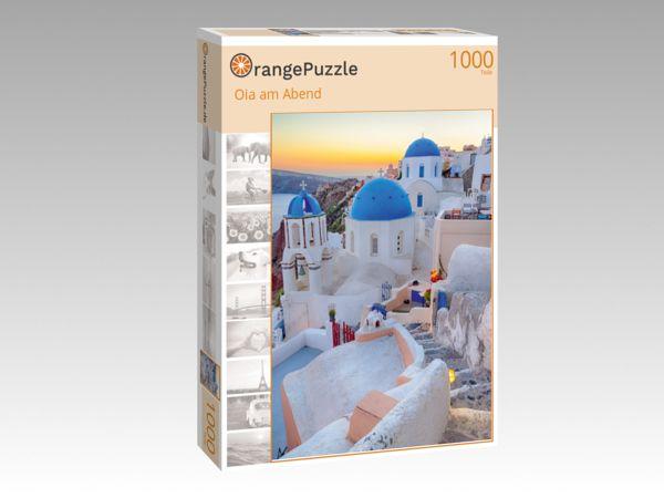 """Puzzle Motiv """"Oia am Abend"""" - Puzzle-Schachtel zu 1000 Teile Puzzle"""
