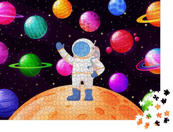 """Puzzle-Motiv """"Astronaut erforscht den Weltraum Raumflug des Menschen"""" - Puzzle-Teile zu 1000 Teile Puzzle"""