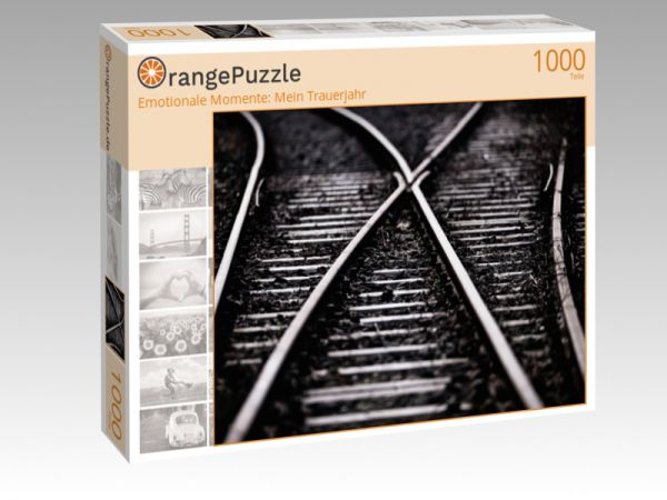 "Puzzle Motiv ""Emotionale Momente: Mein Trauerjahr"" - Puzzle-Schachtel zu 1000 Teile Puzzle"