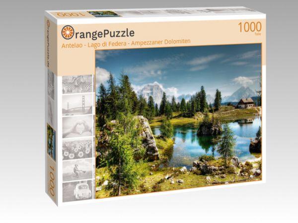 "Puzzle Motiv ""Antelao - Lago di Federa - Ampezzaner Dolomiten"" - Puzzle-Schachtel zu 1000 Teile Puzzle"