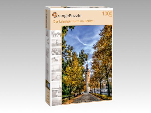 """Puzzle Motiv """"Der Leipziger Turm im Herbst"""" - Puzzle-Schachtel zu 1000 Teile Puzzle"""