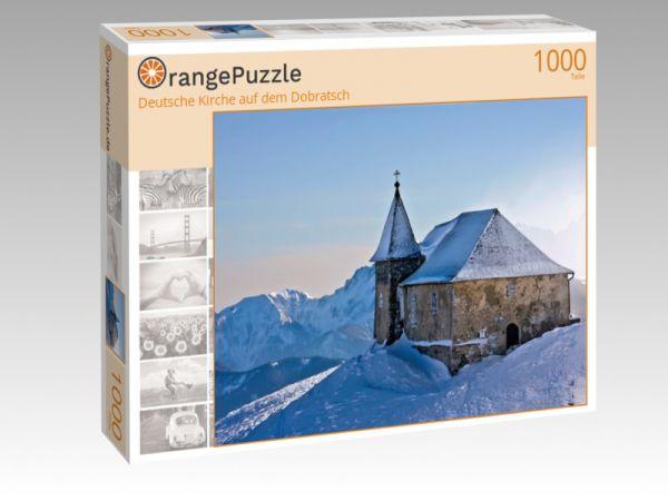 """Puzzle Motiv """"Deutsche Kirche auf dem Dobratsch"""" - Puzzle-Schachtel zu 1000 Teile Puzzle"""