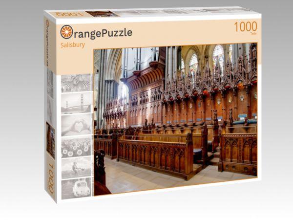 """Puzzle Motiv """"Salisbury"""" - Puzzle-Schachtel zu 1000 Teile Puzzle"""