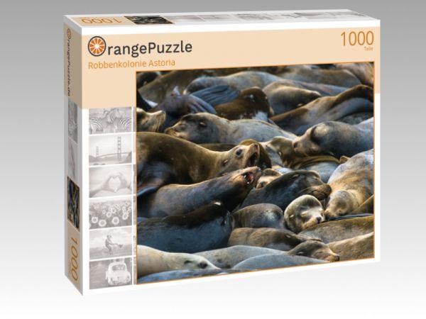 """Puzzle Motiv """"Robbenkolonie Astoria"""" - Puzzle-Schachtel zu 1000 Teile Puzzle"""