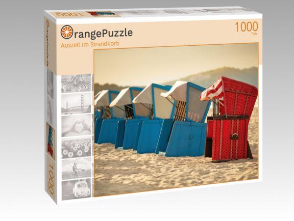 """Puzzle Motiv """"Auszeit im Strandkorb"""" - Puzzle-Schachtel zu 1000 Teile Puzzle"""