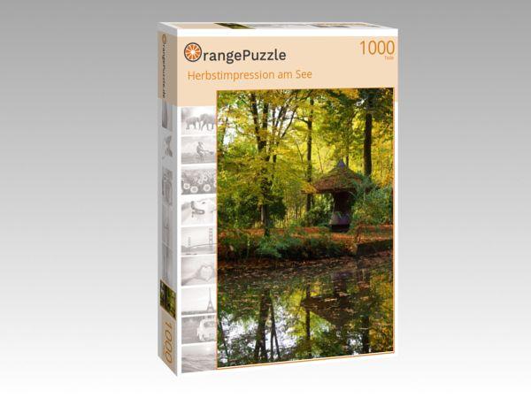 "Puzzle Motiv ""Herbstimpression am See"" - Puzzle-Schachtel zu 1000 Teile Puzzle"